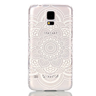 billige Galaxy S5 Etuier-For Samsung Galaxy etui Transparent Etui Bagcover Etui Mandala-mønster PC for Samsung S6 edge S6 S5 Mini S5 S4 Mini S3 Mini
