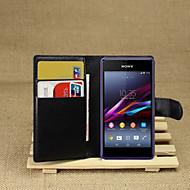 preiswerte Handyhüllen-Hülle Für Sony Xperia Z2 / Sony Xperia M2 / Andere Sony Hülle Geldbeutel / Kreditkartenfächer / mit Halterung Ganzkörper-Gehäuse Solide Hart PU-Leder für Sony Xperia Z2 / Sony Xperia M2 / Other