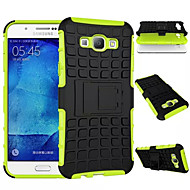 billige Galaxy A8 Etuier-For Samsung Galaxy etui Stødsikker Med stativ Etui Bagcover Etui Armeret PC for Samsung A8 A7 A5 A3