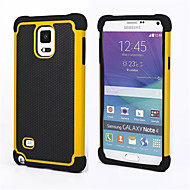 cheap Galaxy Note Series Cases / Covers-Case For Samsung Galaxy Samsung Galaxy Note Shockproof Back Cover Armor PC for Note 4 Note 3
