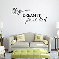 preiswerte -Cartoon Design Worte & Zitate Wand-Sticker Flugzeug-Wand Sticker Dekorative Wand Sticker, PVC Haus Dekoration Wandtattoo Wand