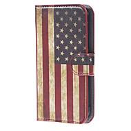 Для Кейс для  Samsung Galaxy Кошелек / Бумажник для карт / со стендом / Флип Кейс для Чехол Кейс для Флаг Искусственная кожа Samsung