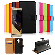 Case For Huawei Honor 7 / Huawei Huawei Case Wallet / Card Holder / with Stand Full Body Cases Solid Colored Hard PU Leather for Huawei Honor 7 / Huawei