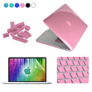 Enkay 4 in 1 crystal beschermhoes + screen protector + keyboard film + anti-stof stekkers voor macbook pro retina 13.3 ""