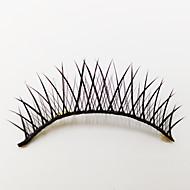 1 pares de fibra negro pestañas falsas