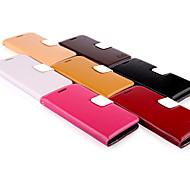 Для Кейс для  Samsung Galaxy Бумажник для карт / Кошелек / со стендом / Флип Кейс для Чехол Кейс для Один цвет Натуральная кожа Samsung S3