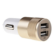 billige -Bil Oplader Telefon USB oplader Multiporte 2 USB-porte 2.1A 1A DC 12V-24V til iPad Til mobiltelefon