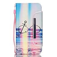 Для Кейс для  Samsung Galaxy Кошелек / Бумажник для карт / со стендом Кейс для Чехол Кейс для Пейзаж Твердый Искусственная кожа SamsungS6