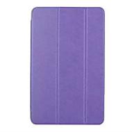 Для Кейс для  Samsung Galaxy со стендом / Флип / Оригами Кейс для Чехол Кейс для Один цвет Искусственная кожа Samsung Tab E 9.6