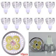 10個のmr16はスポットライトmr16を導いた4高出力450lm暖かい白い冷たい白い装飾dc12vを導いた