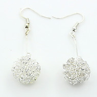 Women's Cubic Zirconia Drop Earrings - Cubic Zirconia, Platinum Plated European, Fashion Silver For