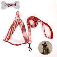 お買い得  -犬 ハーネス リード スリップリード 調整可能 / 引き込み式 繊維 ナイロン レッド ブルー