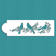 Valentine's Gift Love Birds Cake Side Stencil,ST-295