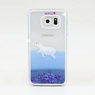 Недорогие Чехлы и кейсы для Galaxy S-Кейс для Назначение SSamsung Galaxy Кейс для  Samsung Galaxy Движущаяся жидкость Кейс на заднюю панель Сияние и блеск ПК для S6 / S5 / S4