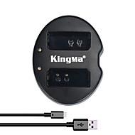 kingma® dual slot usb lader for canon lp-e10 batteri for canon rebel t3 t5 eos 1100D 1200D kyss x50 kamera
