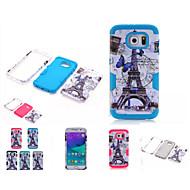 Mert Samsung Galaxy tok Ütésálló Case Hátlap Case Eiffel torony PC Samsung S6 edge / S6 / S5 / S4