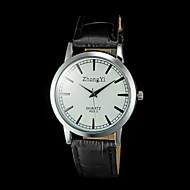abordables Relojes Formales-Hombre Reloj de Pulsera Cuarzo Reloj Casual PU Banda Analógico Encanto Negro / Marrón - Negro Marrón