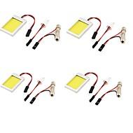 T10 Araba Kamyonlar ve Römorklar Motorsiklet Soğuk Beyaz 12W COB 6000-6500 Okuma Işığı Plaka Aydınlatma Lambası Spot Işığı
