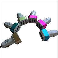 abordables Cargadores para Coche-de tres cargador del coche del usb puerto lleno 5.1a cargador de coche cargador de coche