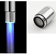 LED Water Faucet Light Blue Glow Shower Head Kitchen Tap Aerators