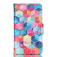 olcso Galaxy S5 Mini tokok-Case Kompatibilitás Samsung Galaxy Samsung Galaxy tok Kártyatartó Pénztárca Állvánnyal Flip Héjtok Mértani formák PU bőr mert S6 edge