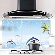 Parede da cozinha padrão 75x45cm óleo à prova de etiqueta à prova de água