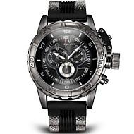 お買い得  -V6 男性用 軍用腕時計 リストウォッチ クォーツ 日本産クォーツ 計算尺付き シリコーン バンド ハンズ チャーム ブラック / 白 / ブルー - ブラック グレー ブルー 2年 電池寿命 / ステンレス / 三菱LR626