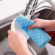 billige Rengøringsforsyninger-tallerkenen tjekket tekstilrenseren i køkkenet tilfældig farve