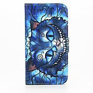 Для Кейс для  Samsung Galaxy Кошелек / Бумажник для карт / со стендом / Флип Кейс для Чехол Кейс для Кот Искусственная кожа SamsungS6