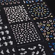 꽃 / 러블리 - 핑거 - 3D 네일 스티커 / 네일 쥬얼리 - PVC - 30pcs - 65mm*55mm