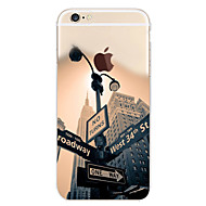 Case For Apple iPhone 7 / iPhone 7 Plus / iPhone 6 Plus Pattern Back Cover City View Soft TPU for iPhone 7 Plus / iPhone 7 / iPhone 6s Plus