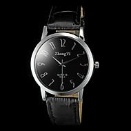 abordables Relojes Formales-Hombre Reloj de Pulsera Cuarzo Reloj Casual PU Banda Encanto Negro Marrón