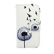 Varten Nokia kotelo Lomapkko / Korttikotelo / Tuella Etui Kokonaan peittävä Etui Voikukka Kova Tekonahka Nokia Nokia Lumia 635
