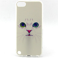 pattern pintura do gato TPU soft case para o iPod touch 5