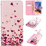 Для Кейс для  Samsung Galaxy Кошелек / Бумажник для карт / со стендом / Флип Кейс для Чехол Кейс для С сердцем Искусственная кожа Samsung