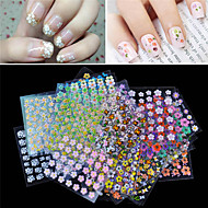 3D Nail Stickers / Nail Jewelry - PVC - Kukka / Lovely - Sormi - 65mm*55mm - 30pcs