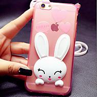 tanie Etui do iPhone-Uchwyt powłoki TPU królika dla iphone6 6s / iPhone