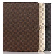 preiswerte -Tartan Mappenkasten der beiläufigen Art PU-Tablette für ipad pro 12,9 Schale mit Ständer Halter schützen