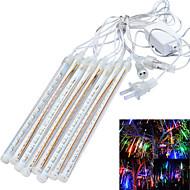Χαμηλού Κόστους LED Φωτολωρίδες-jiawen® αδιάβροχο 20 εκατοστά 8-σωλήνα φώτα RGB / λευκό / μπλε σωλήνα μετεωρίτη βροχή διακόσμηση (αμερικανικό βούλωμα, AC 110-220V)