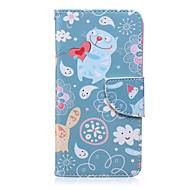 Назначение Кейс для  Samsung Galaxy Чехлы панели Бумажник для карт Кошелек со стендом Флип С узором Чехол Кейс для Мультипликация
