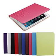olcso Galaxy Tab 4 8.0 tokok-Mert Samsung Galaxy tok Kártyatartó / Állvánnyal / Flip / Dombornyomott Case Teljes védelem Case Egyszínű Műbőr SamsungTab 4 8.0 / Tab 4