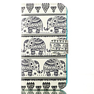 Недорогие Чехлы и кейсы для Galaxy J1-Кейс для Назначение SSamsung Galaxy Кейс для  Samsung Galaxy Кошелек / Бумажник для карт / со стендом Чехол Слон Кожа PU для J5 / J1