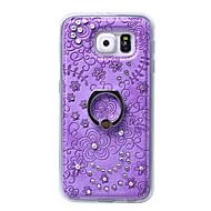 Для Кейс для  Samsung Galaxy Стразы / Кольца-держатели Кейс для Задняя крышка Кейс для Цветы TPU Samsung S6 edge plus / S6 edge / S6 / S5
