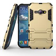 preiswerte Handyhüllen-Hülle Für Samsung Galaxy Samsung Galaxy Hülle Stoßresistent mit Halterung Rückseite Rüstung PC für J1 Ace