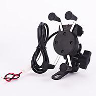 Недорогие Запчасти для мотоциклов и квадроциклов-Новый 12v х-ручка держатель мотоцикл скутер мобильный телефон колыбели, 5В 2.1a USB-порт Автомобильное зарядное устройство для iPhone