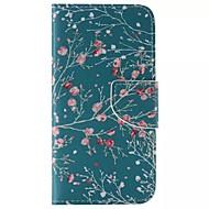Недорогие Чехлы и кейсы для Galaxy S6 Edge Plus-Кейс для Назначение SSamsung Galaxy Кейс для  Samsung Galaxy Бумажник для карт Кошелек со стендом Флип Чехол дерево Кожа PU для S6 edge