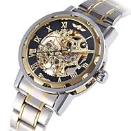 Недорогие Фирменные часы-WINNER Муж. Модные часы Нарядные часы Механические часы Механические, с ручным заводом С автоподзаводом 30 m Светящийся Крупный циферблат сплав Группа Аналоговый Роскошь Винтаж На каждый день