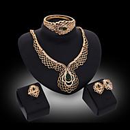 cheap -Women's Cute Jewelry Set Bracelet Earrings Necklace - Tassel Party Bangle Gold For