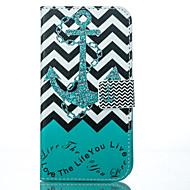 Для Кейс для  Samsung Galaxy Бумажник для карт / Кошелек / со стендом / Флип / С узором Кейс для Чехол Кейс для Якорь Искусственная кожа