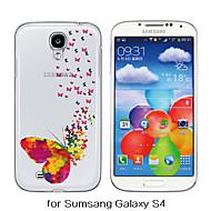 お買い得  Samsung 用 ケース/カバー-ケース 用途 Samsung Galaxy Samsung Galaxy ケース クリア パターン バックカバー バタフライ TPU のために S6 S5 S4